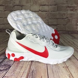 NIKE Air React Element 55 SE University Red/White